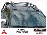 Рейлинги для Nissan Navara c 2005г.- (Voyager, Турция), MAXPORT CHROME